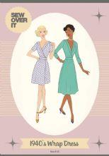 Vintage Style 1940's Wrap Dress Pattern